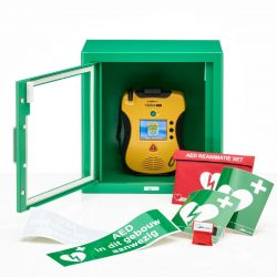 Defibtech Lifeline VIEW AED + binnenkast