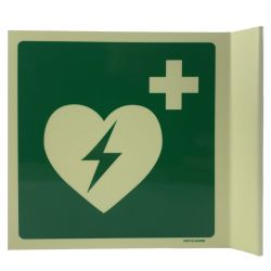 AED bord haaks glow 15x15