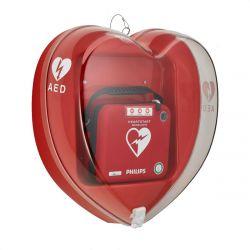 Hartvormige kast rood