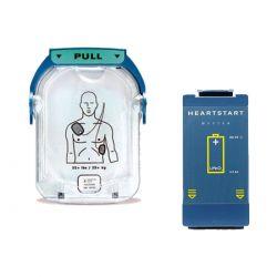 Philips HS-1 AED elektroden + accu