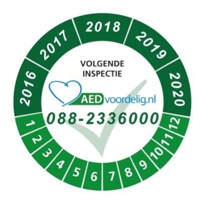 Keuringssticker AED